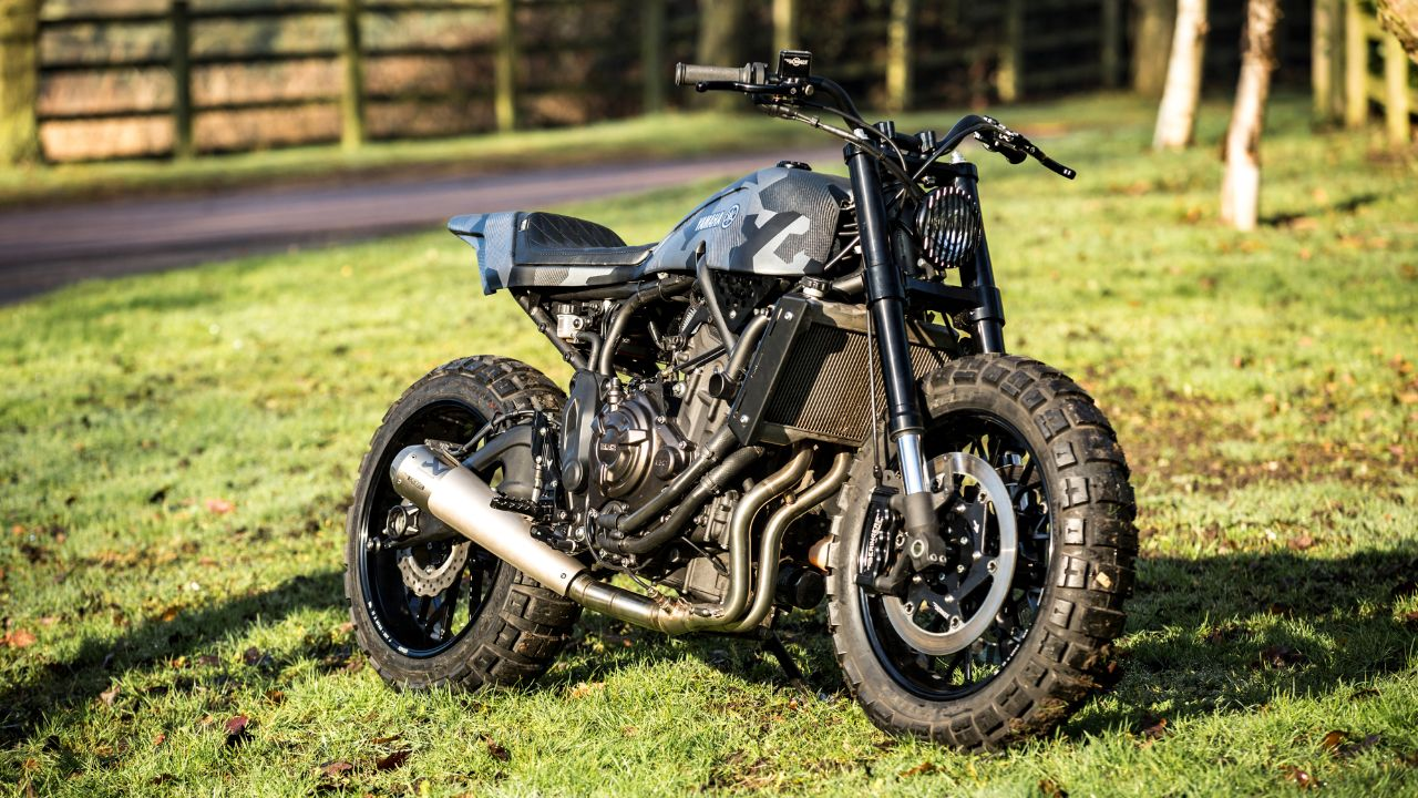 Double-style' Yard Built XSR700 by Rough Crafts